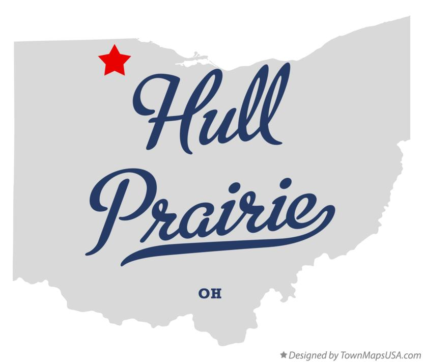 Map of Hull Prairie Ohio OH