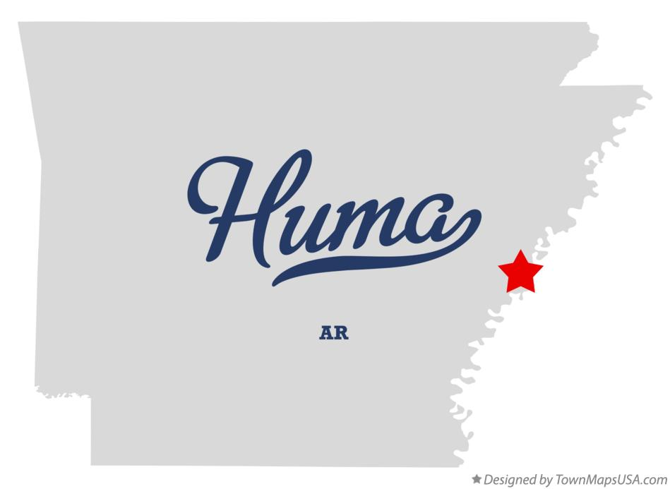 Map of Huma Arkansas AR