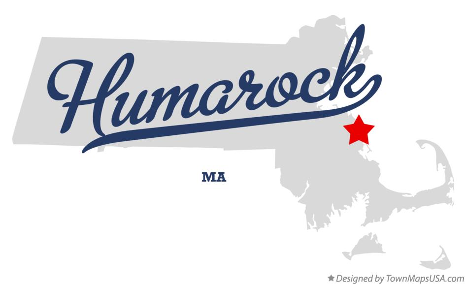 Map of Humarock Massachusetts MA