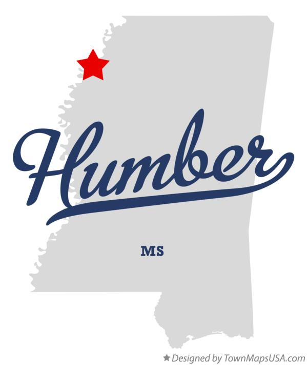 Map of Humber Mississippi MS