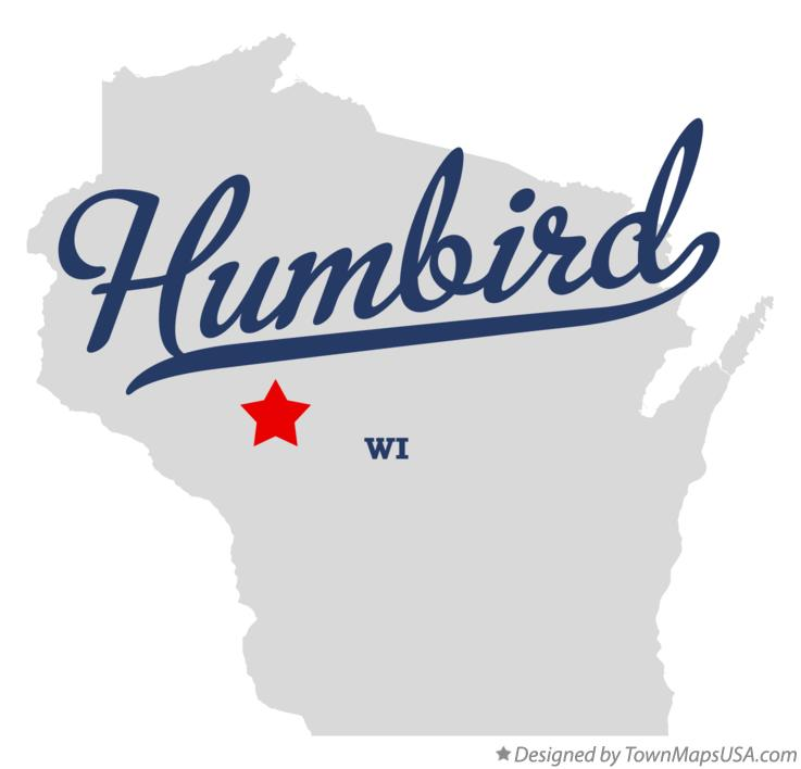 Map of Humbird Wisconsin WI
