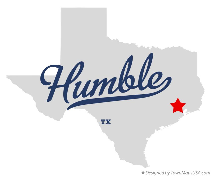 Map of Humble Texas TX