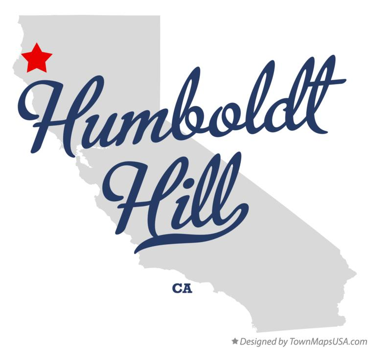 Map of Humboldt Hill California CA