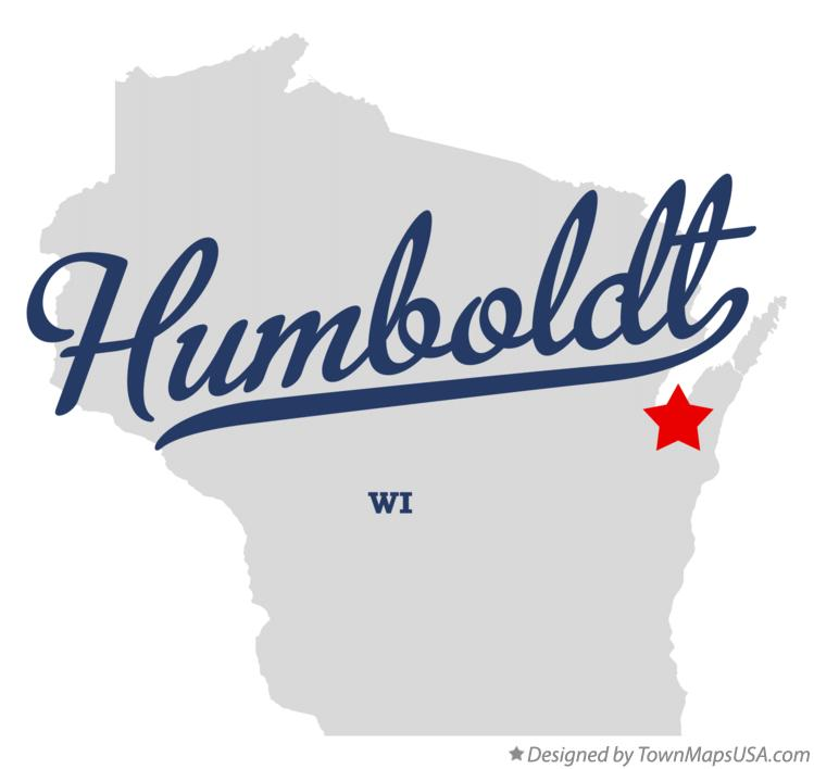 Map of Humboldt Wisconsin WI