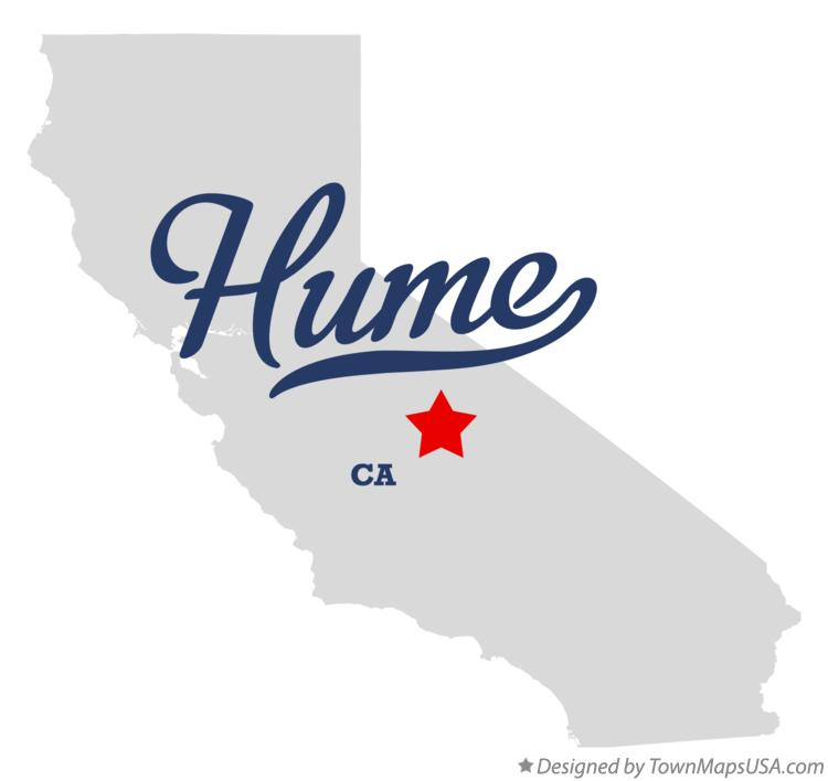 Map of Hume California CA