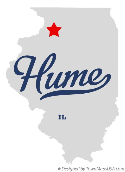 Map of Hume Illinois IL