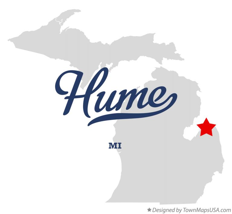 Map of Hume Michigan MI