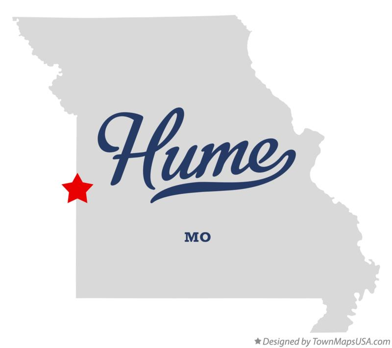 Map of Hume Missouri MO