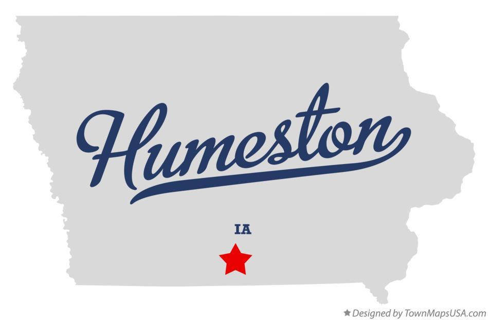 Map of Humeston Iowa IA