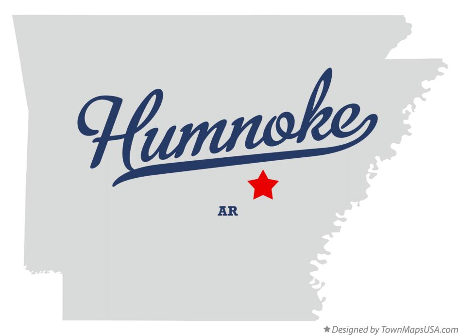 Map of Humnoke Arkansas AR