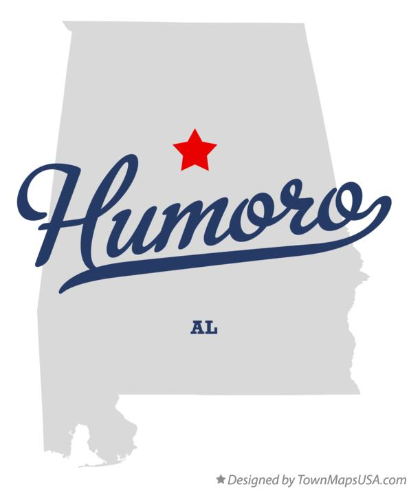 Map of Humoro Alabama AL