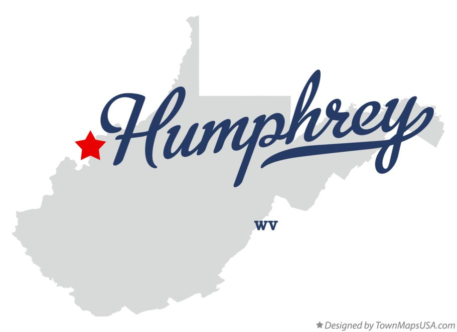 Map of Humphrey West Virginia WV
