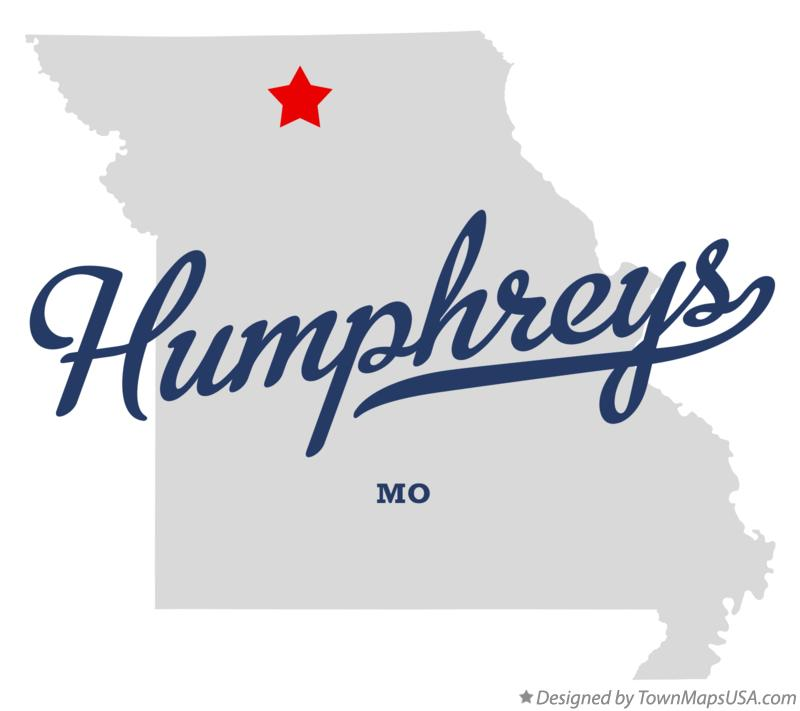 Map of Humphreys Missouri MO