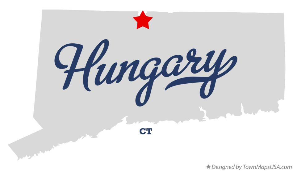 Map of Hungary Connecticut CT
