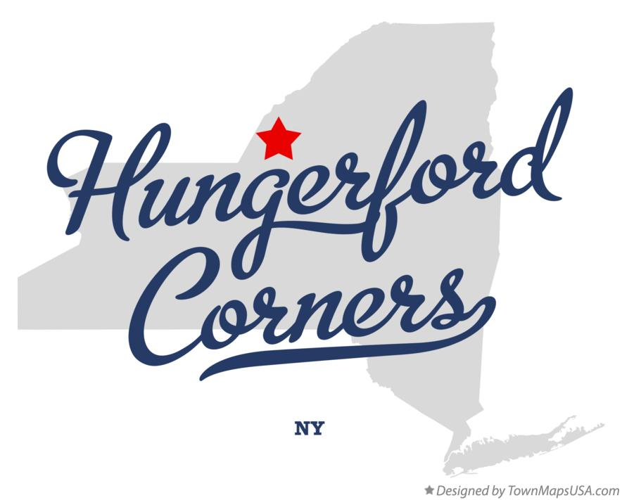 Map of Hungerford Corners New York NY