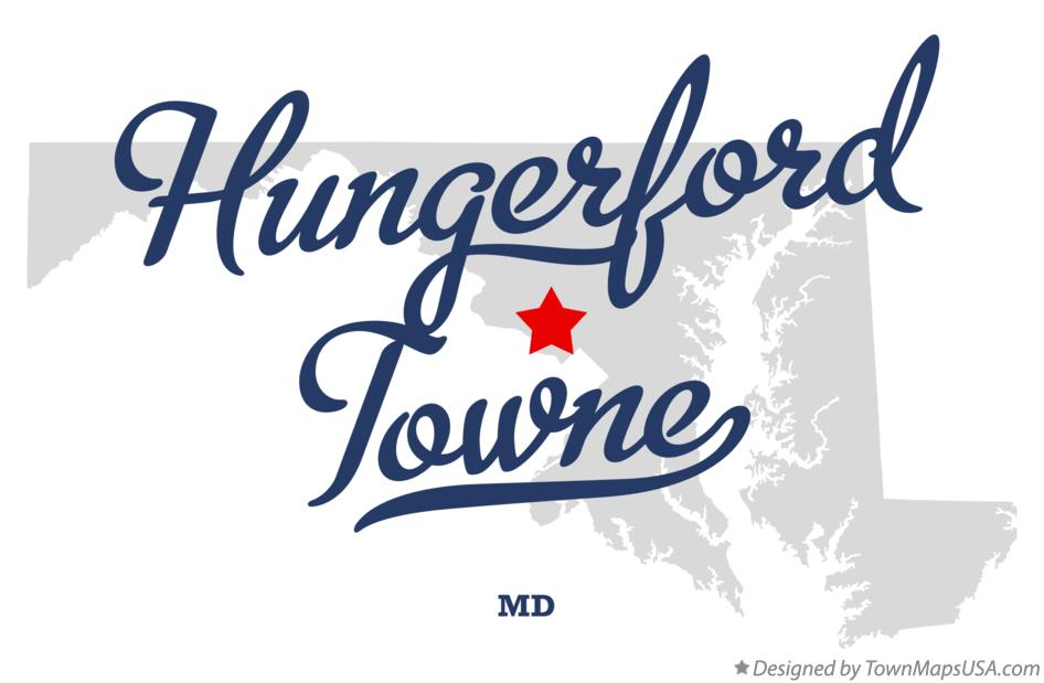 Map of Hungerford Towne Maryland MD