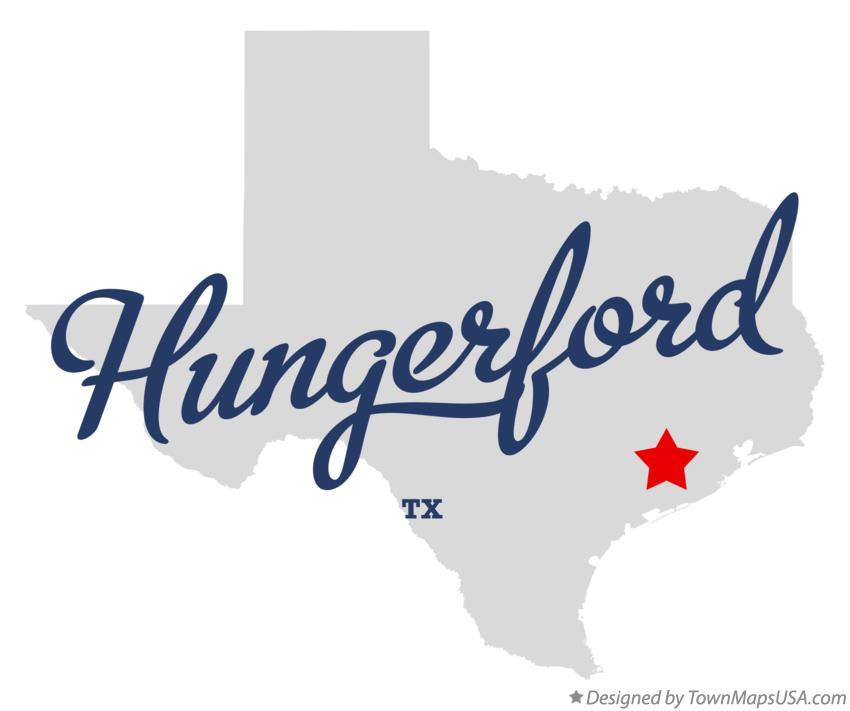 Map of Hungerford Texas TX