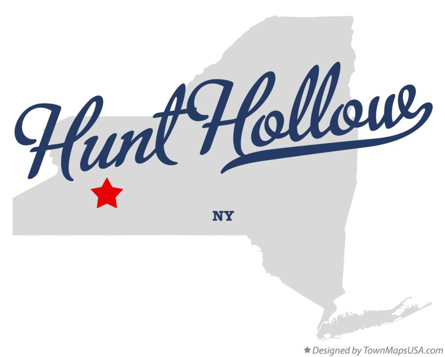 Map of Hunt Hollow New York NY