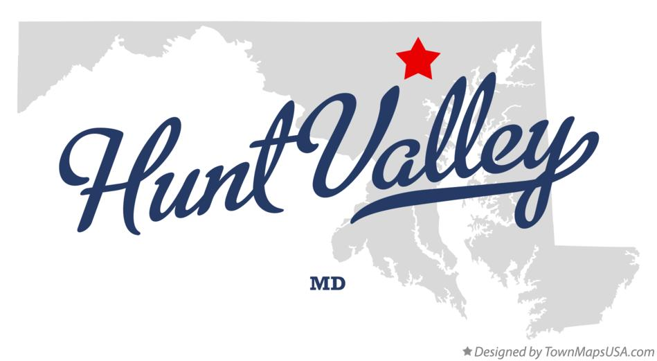 Map of Hunt Valley Maryland MD