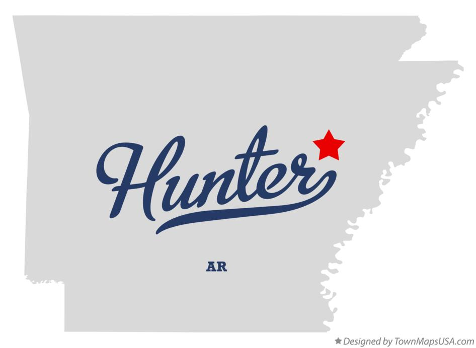 Map of Hunter Arkansas AR