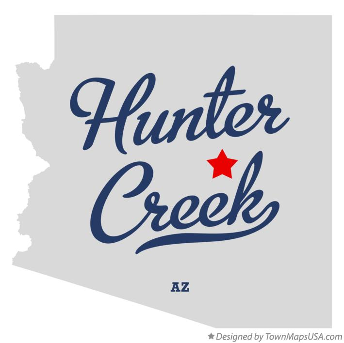 Map of Hunter Creek Arizona AZ