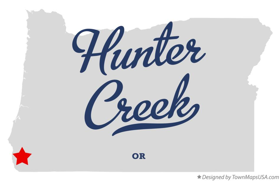 Map of Hunter Creek Oregon OR