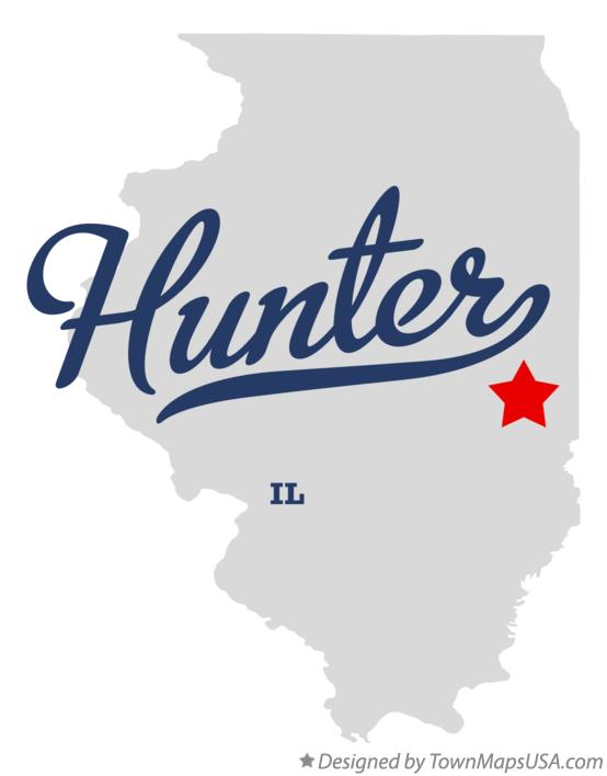 Map of Hunter Illinois IL