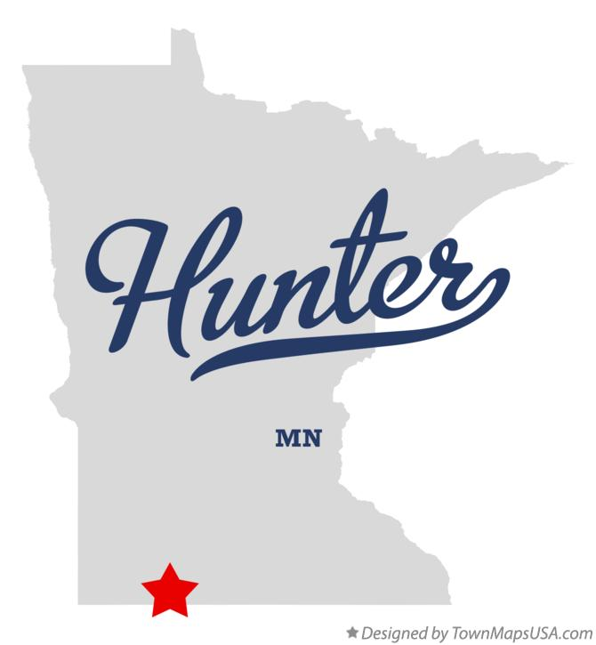 Map of Hunter Minnesota MN