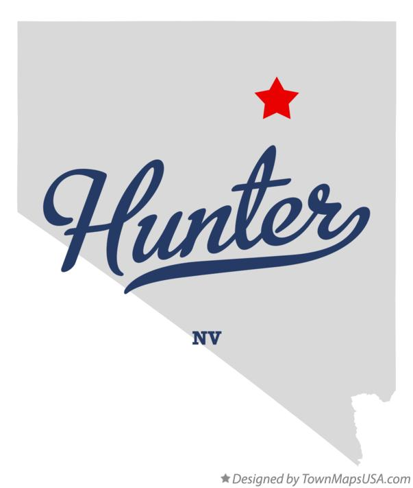 Map of Hunter Nevada NV