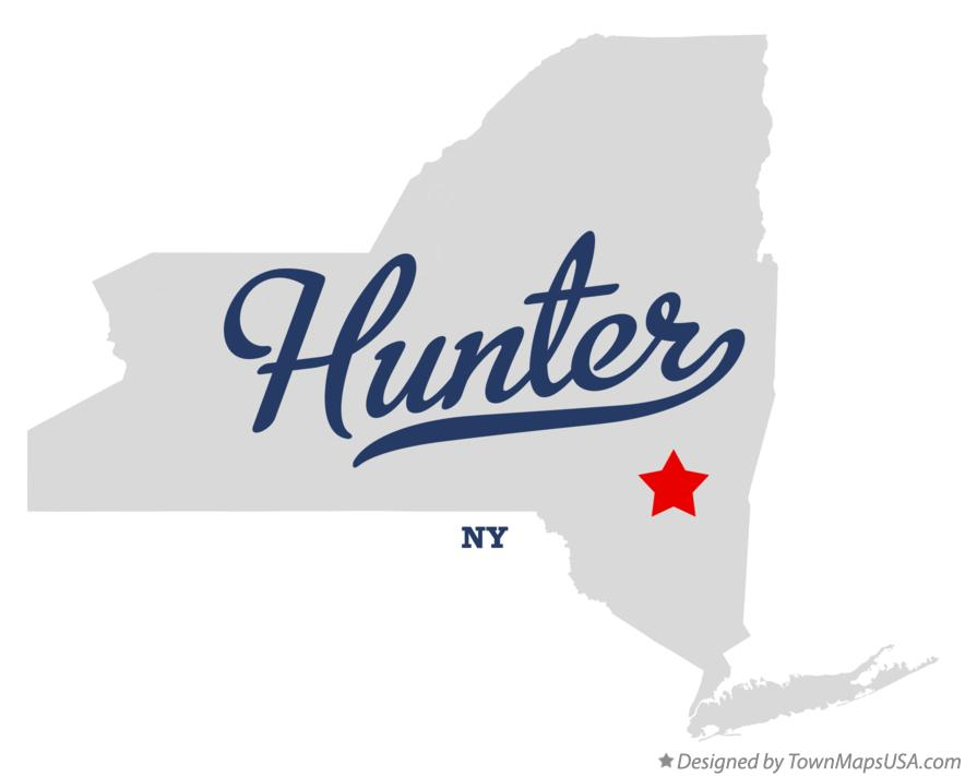 Map of Hunter New York NY