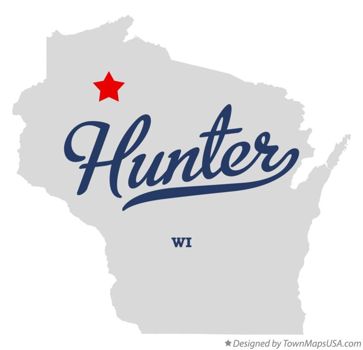 Map of Hunter Wisconsin WI