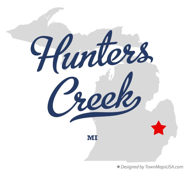 Map of Hunters Creek Michigan MI