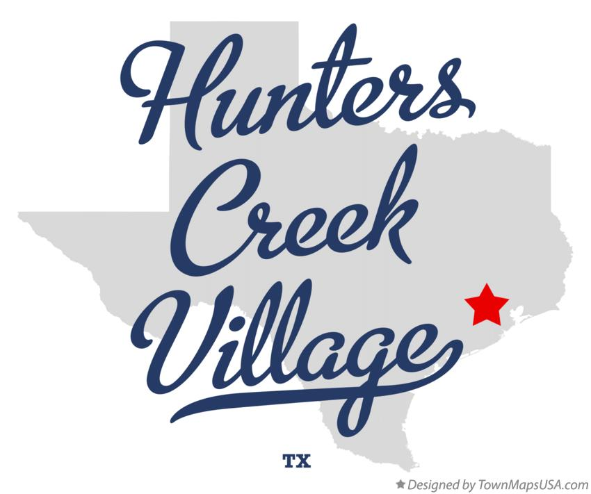 Map of Hunters Creek Village Texas TX