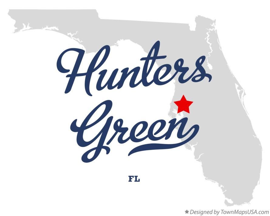 Map of Hunters Green Florida FL