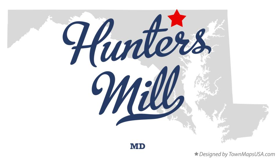 Map of Hunters Mill Maryland MD