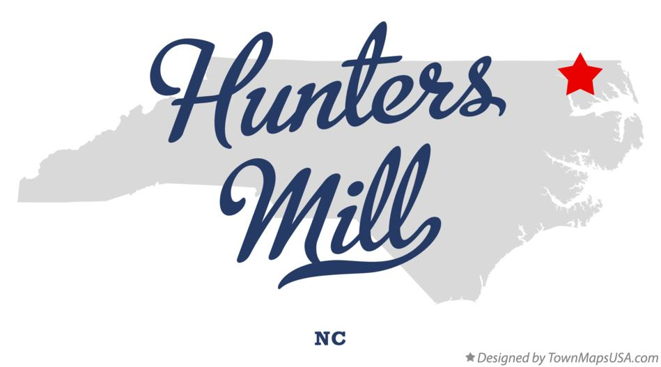 Map of Hunters Mill North Carolina NC