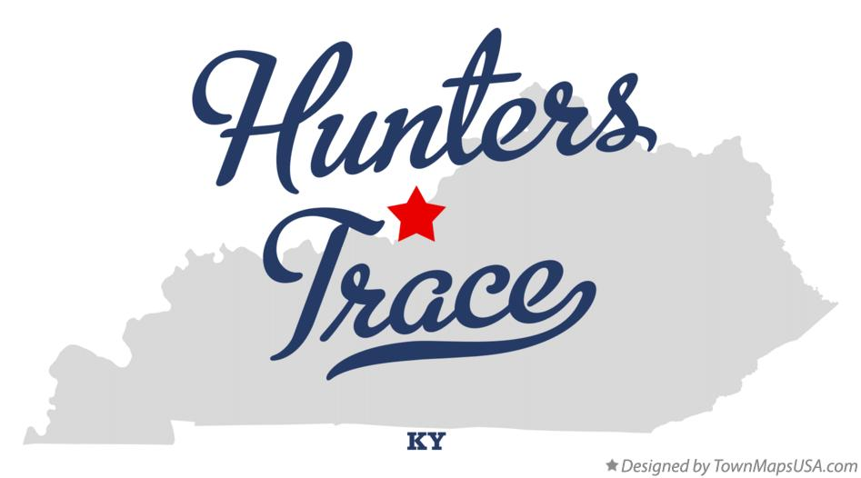 Map of Hunters Trace Kentucky KY
