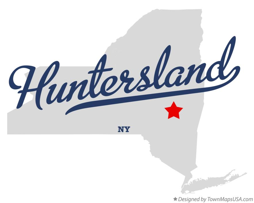 Map of Huntersland New York NY