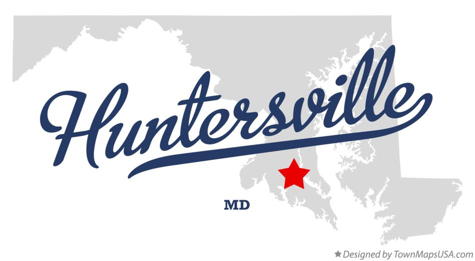 Map of Huntersville Maryland MD