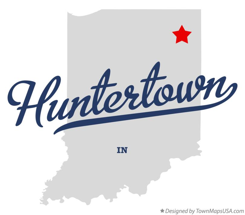 Map of Huntertown Indiana IN