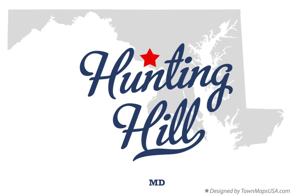 Map of Hunting Hill Maryland MD