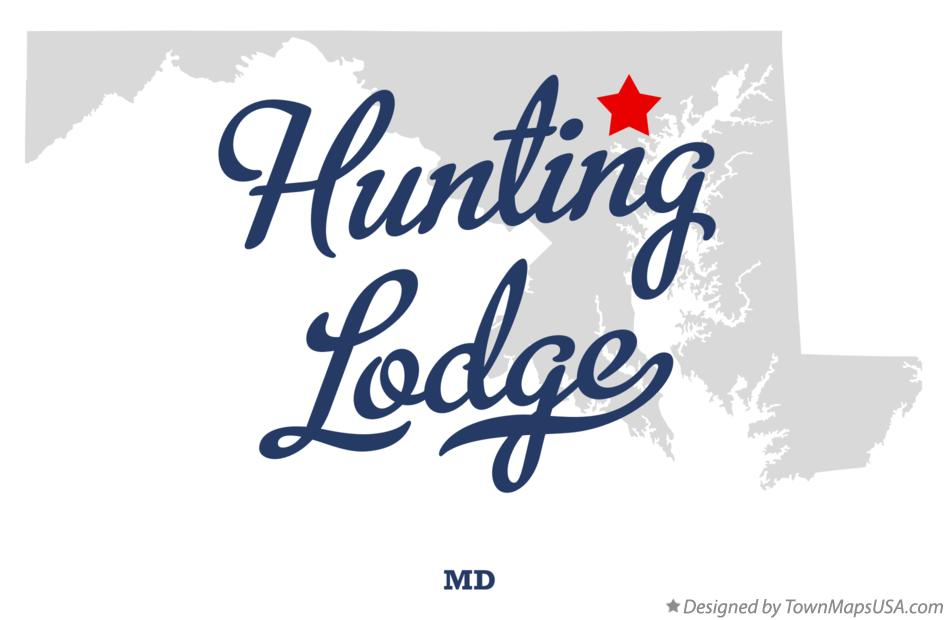 Map of Hunting Lodge Maryland MD