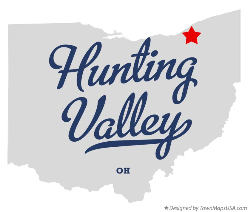 Map of Hunting Valley Ohio OH