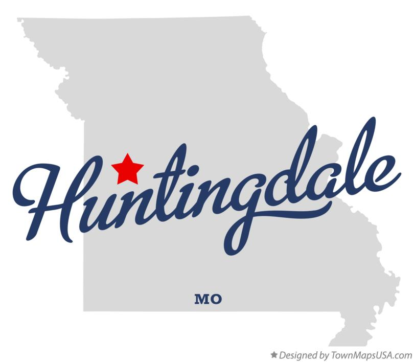 Map of Huntingdale Missouri MO
