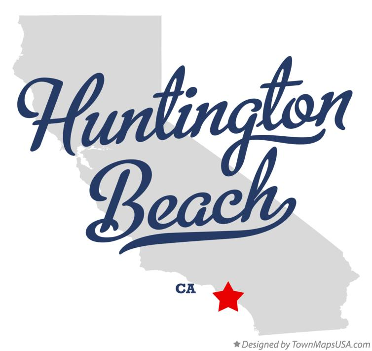 Map of Huntington Beach California CA
