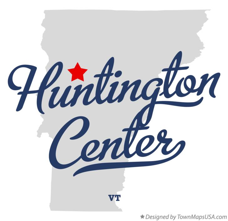 Map of Huntington Center Vermont VT