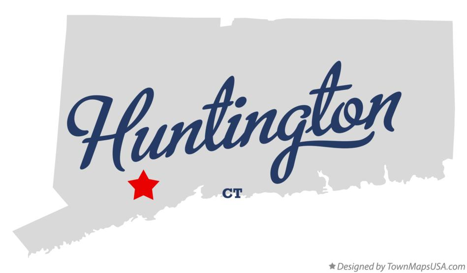 Map of Huntington Connecticut CT