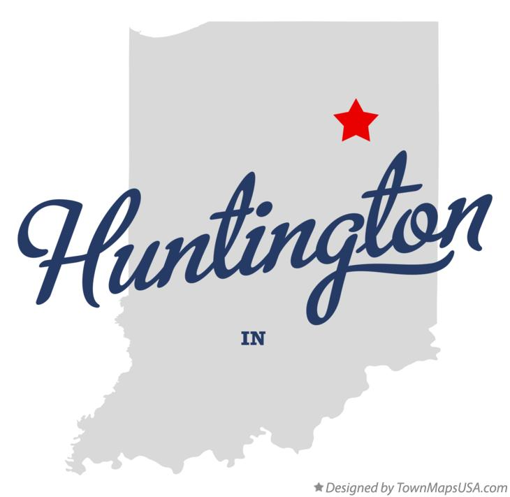 Map of Huntington Indiana IN