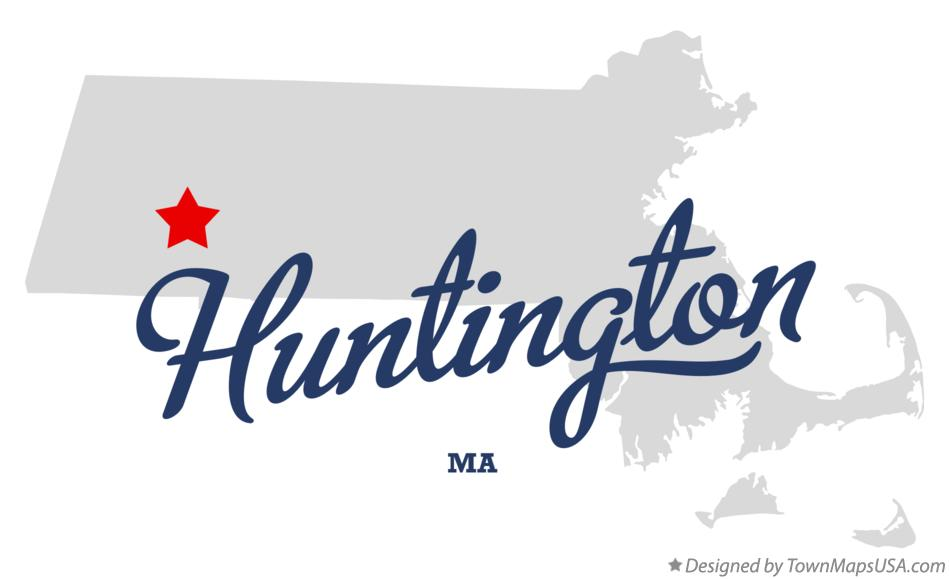 Map of Huntington Massachusetts MA