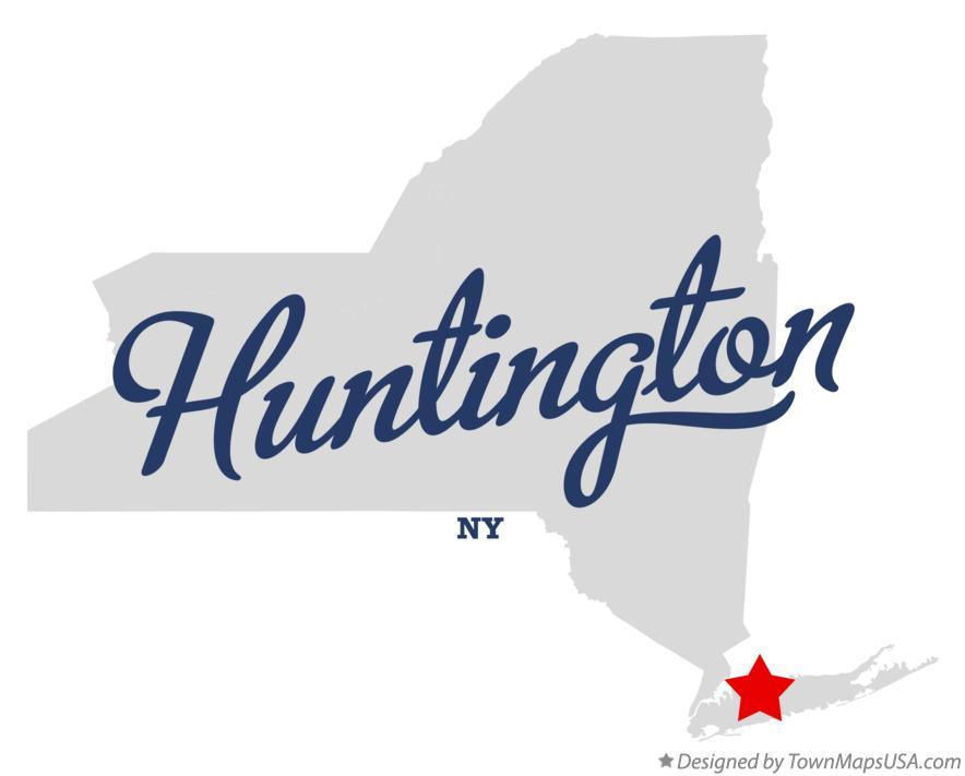 Huntington New York Map.Map Of Huntington Ny New York